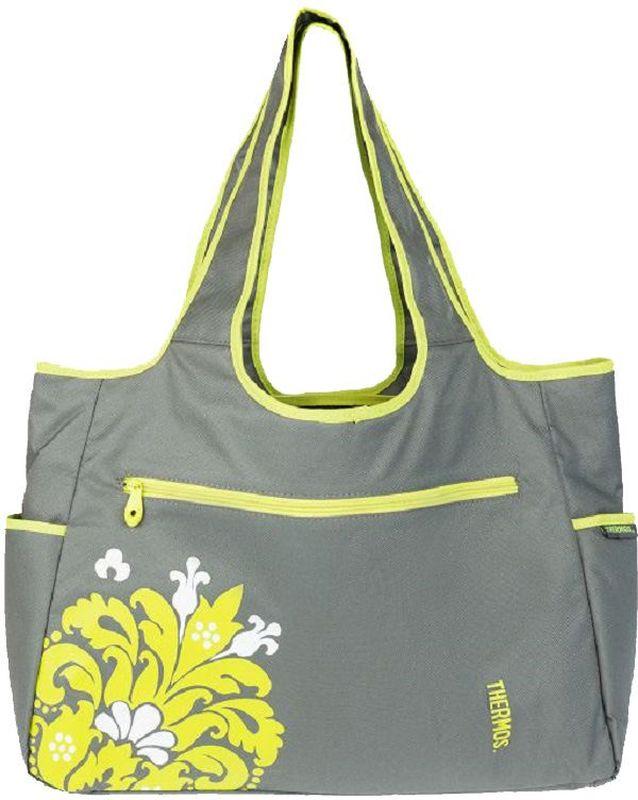 Термосумка Thermos Diaper Tote, цвет: серый, 17 л548580Большая спортивная сумка-термос для мамы Diaper Tote удобна в поездках.Сумка оснащена большим количеством карманов и отделений. а также многоразовой пеленкой для малыша. Объем: 17 л.