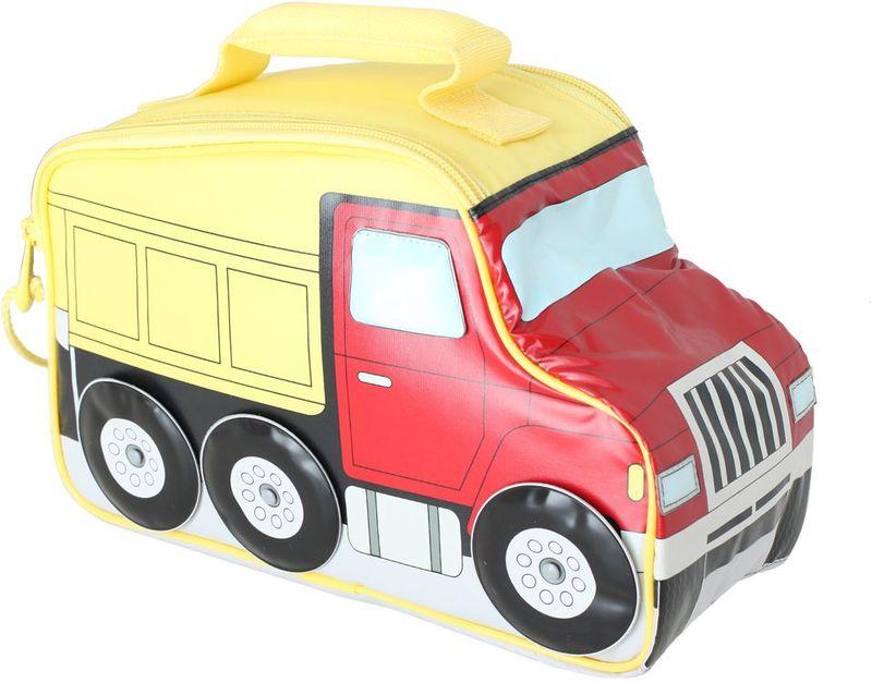 Термосумка детская Thermos Truck Novelty, цвет: красный,желтый, 5 л415905Детская термосумка Truck Novelty в виде грузовика выполнена из прочного износоустойчивого тканого ПВХ-материала. Она отлично подойдет для перевозки и хранения обеда вашего ребенка.Термостатирующие качества обеспечивает термоизолирующая прокладка из пенополиуретана. Для удобства переноскиимеется ручка.Объем: 5 л.