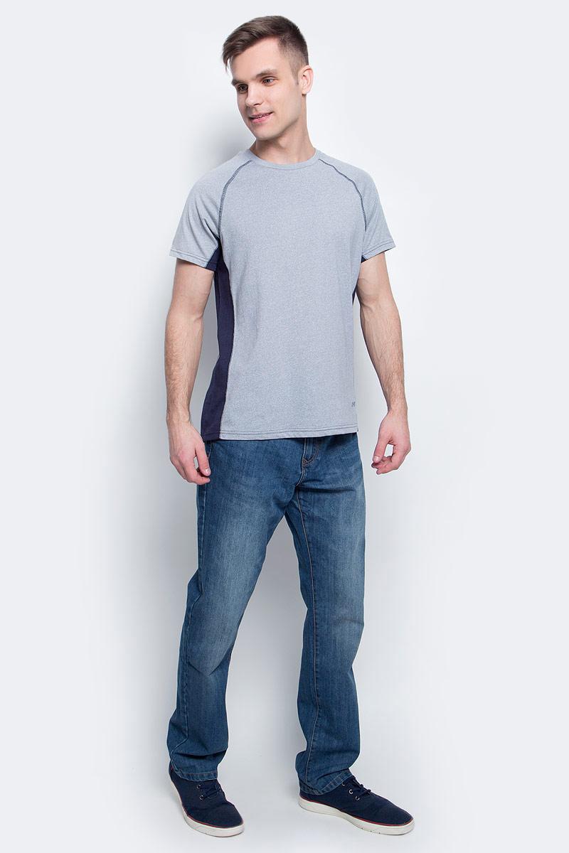 Футболка мужская Sela, цвет: серый меланж. Ts-2411/002-7111. Размер L (50)Ts-2411/002-7111Стильная мужская футболка полуприлегающего силуэта Sela изготовлена из качественного хлопкового материала однотонного цвета с контрастными вставками по бокам. Воротник дополнен мягкой трикотажной резинкой. Универсальный цвет позволяет сочетать модель с любой одеждой.