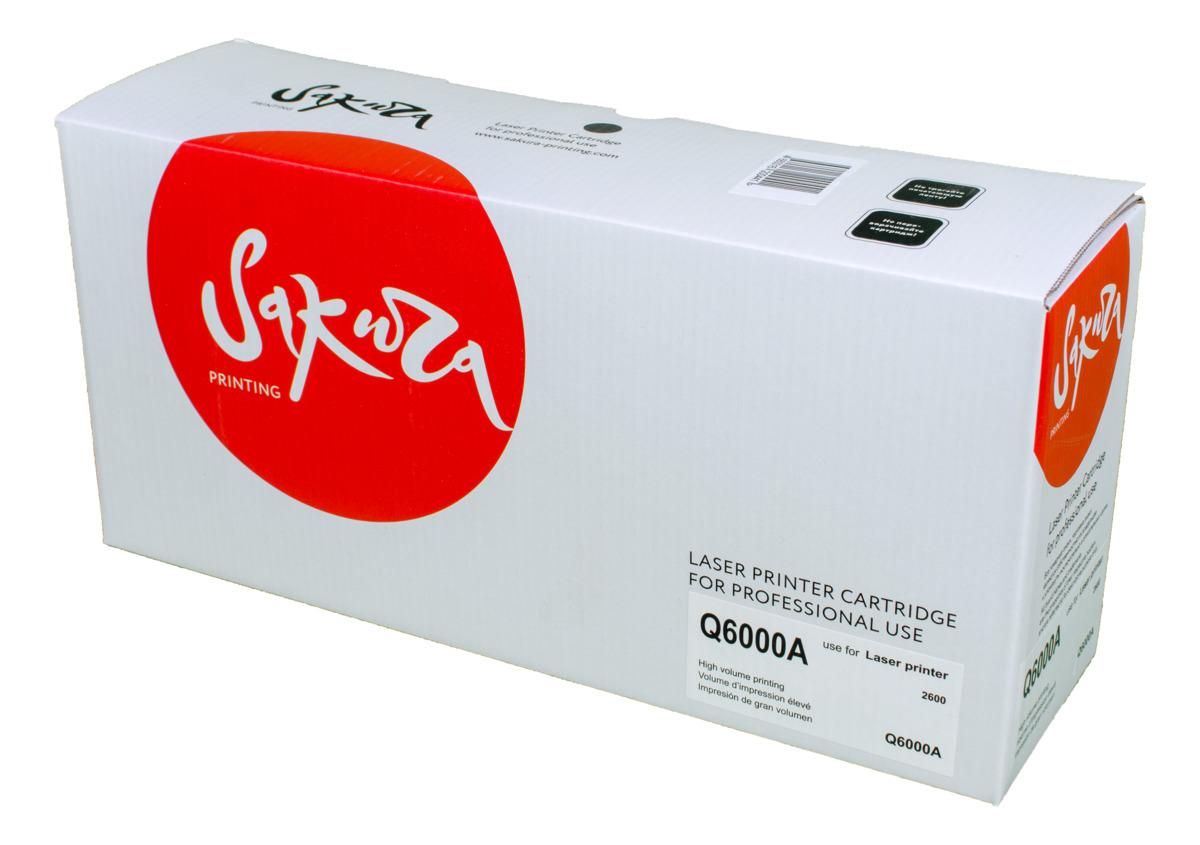 картридж для принтера netproduct n q6000a black Sakura Q6000A, Black тонер-картридж для HP LaserJet 1600/2600n/2605/2605dn/2605dtn/CM1015/CM1017