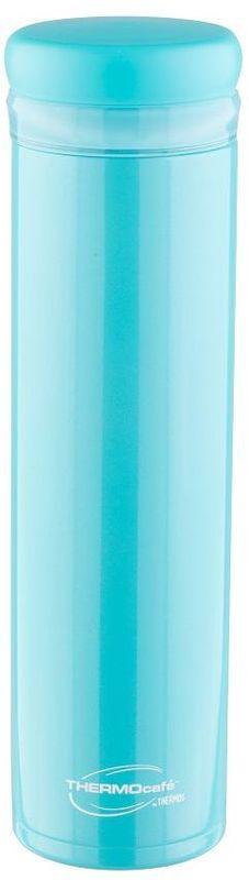 Термос Thermocafe By Thermos, цвет: зеленый, 0,5 л. XSL-50270283Термос Thermocafe By Thermos предназначен для использования в движении. Модель привлекает тонким изящным стилем. Покрытие,созданное на основе самых современных технологий, прекрасно передает глубину и палитру цвета. Можно пить прямо из термоса. Горло у термоса предусмотрено для загрузки кубиков льда, конструкция крышки не позволяет льду выпадать припитье. Термос очень удобно лежит в руке.Модель легко моется. Можно мыть в посудомоечной машине. Термос может использоваться в стандартном подстаканнике автомобиля. Объем: 500 мл.
