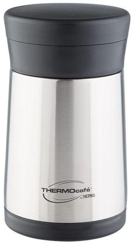 """Модель """"XC05-BK"""" с широким горлом предназначена для еды и напитков.Термос выполнен из нержавеющей стали. Он укомплектован складной пластиковой ложкой. Очень практичный термос, удобен для поездок.Объем: 500 мл."""