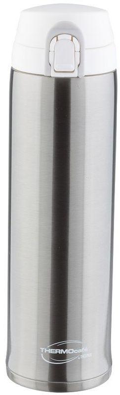 Термос Thermocafe By Thermos, цвет: стальной, 0,6 л. XTC-60270337Термос Thermocafe By Thermos очень удобен для использования в автомобиле или при занятиях спортом.Крышка снабжена дополнительным фиксатором - защитой от случайного открытия. Откидывается полностью и фиксируется в открытом положении.Объем: 600 мл.