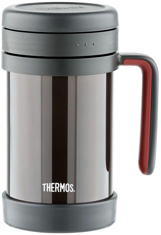 Термос для заваривания Thermos, цвет: черный, 0,5 л. TCMF-501923622Термос Thermos TCMF-501, выполненный из высококачественной стали с ситечком, является необычной моделью - это термос для заваривания. Он предназначен для индивидуального использования. Термос очень удобен и герметичен. В таком термосе можно заваривать любимые настои и чаи не испытывая трудностей при процеживании.Объем: 500 мл.