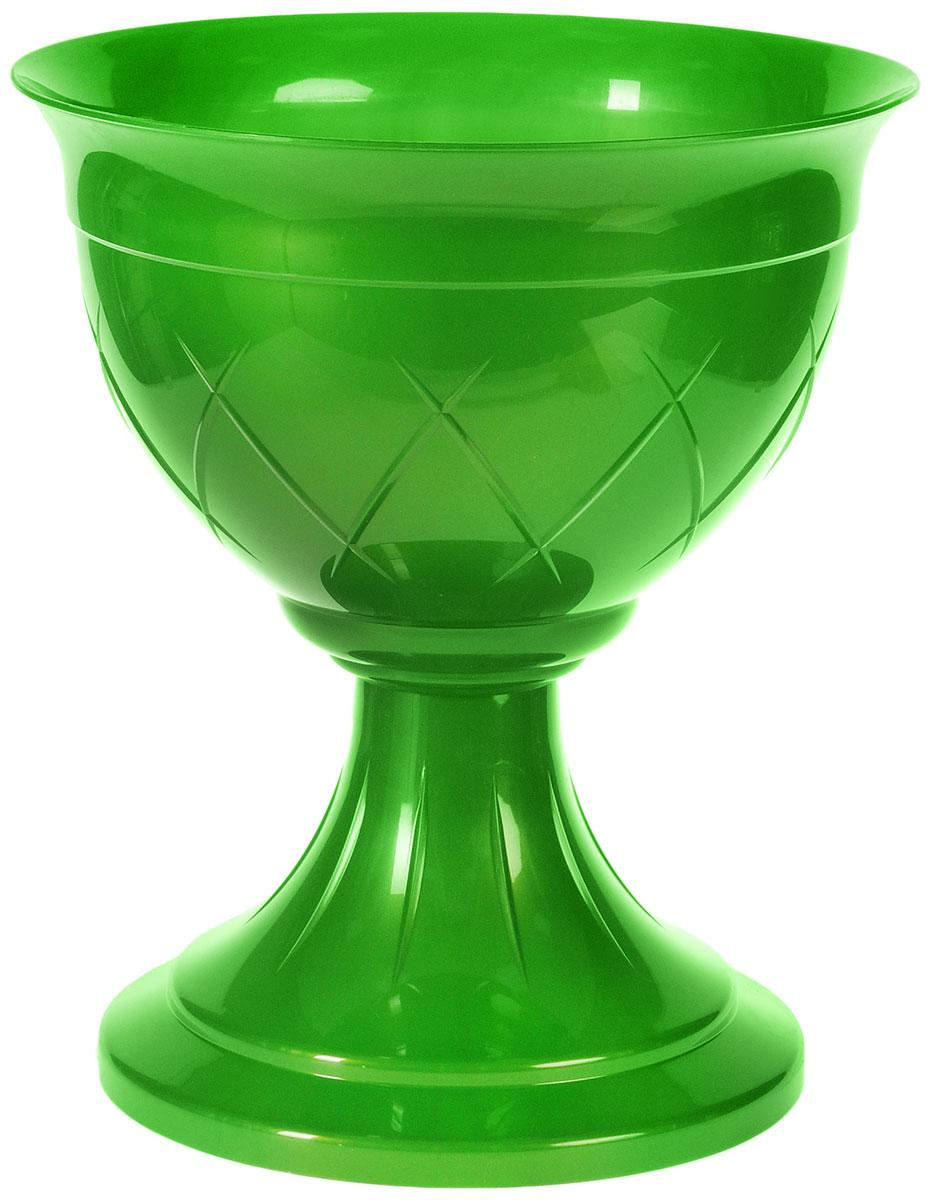 Горшок цветочный Santino Лилия, на ножке, цвет: зеленое золото, 6 л горшок цветочный santino лилия на ножке цвет зеленое золото 9 л