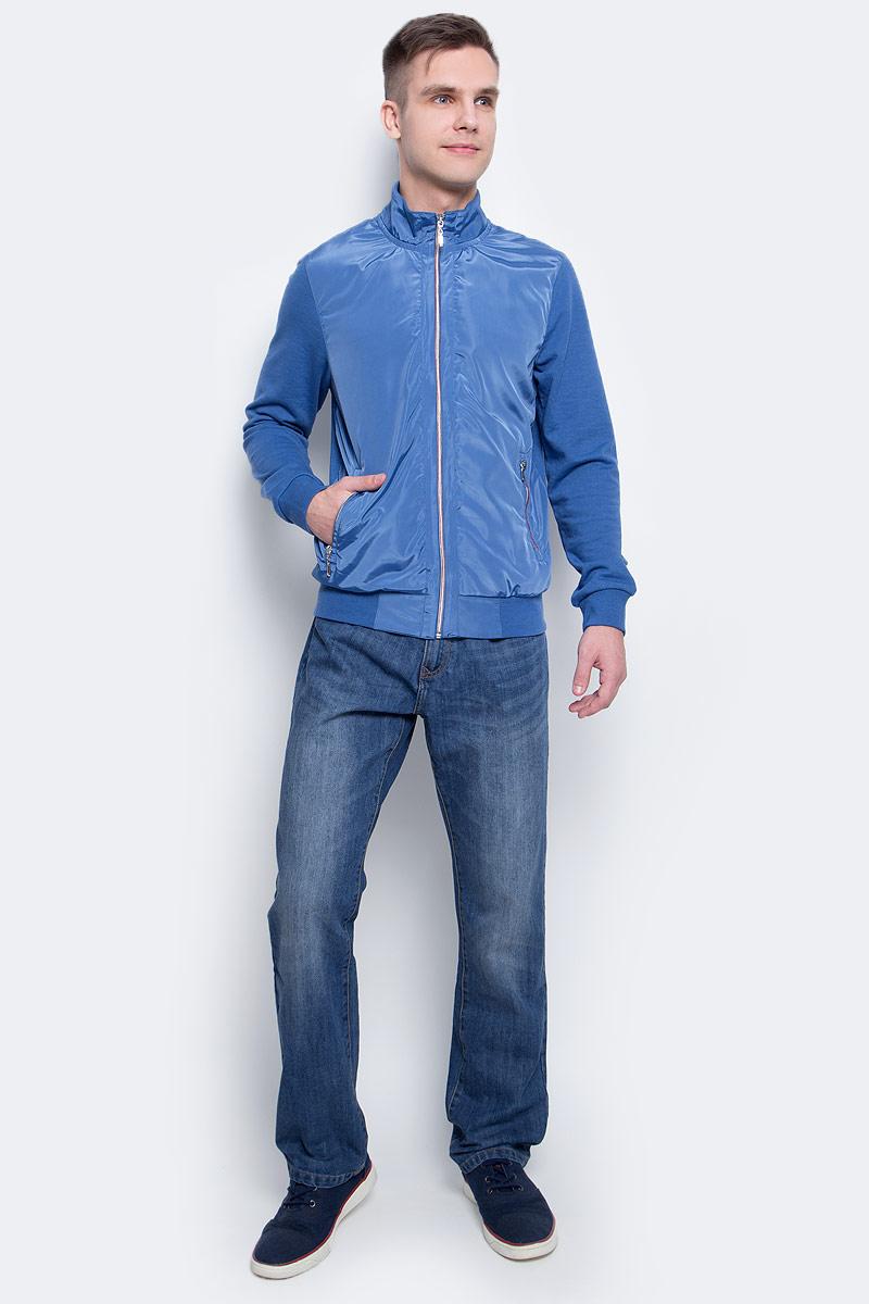Толстовка мужская Sela, цвет: деним. Stc-213/833-7112. Размер M (48)