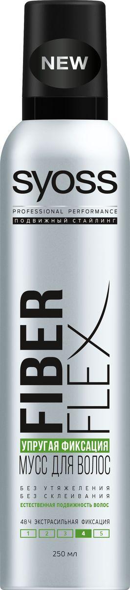 Syoss FiberFlex Упругая Фиксация мусс для волос экстрасильной фиксации 250 мл syoss color 6 77 янтарный медный syoss