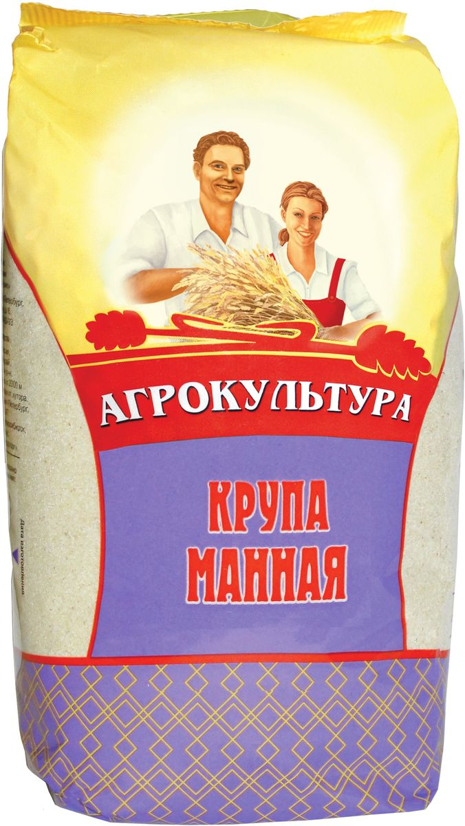 Агрокультура манная крупа, 700 г18434Манная крупа Агрокультура изготавливается из пшеницы. Она быстро разваривается, хорошо усваивается, содержит минимальное количество клетчатки (0,2%), богата растительным белком и крахмалом.