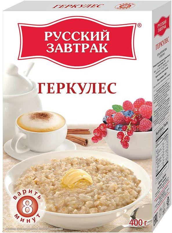 Русский Завтрак хлопья геркулес, 400 г стандарт хлопья овсяные геркулес 450 г