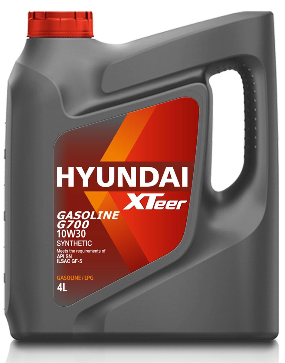 Масло моторное Hyundai Xteer Gasoline, синтетическое, 10W-30, 4 л.1041003XTeer Gasoline 10W30 передовое синтетическое моторное масло для автомобилей премиум-класса, разработанное с применением новейших передовых технологий. XTeer Gasoline 10W30 соответствует требованиям современной градации новейших моторных масел API SN и ILSAC GF-5. Обеспечивает максимальную защиту и смазку всех типов бензиновых двигателей легковых автомобилей.