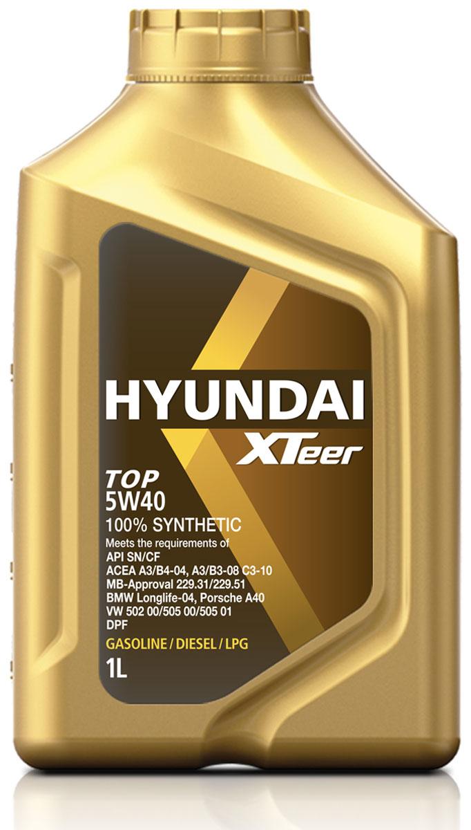Масло моторное Hyundai Xteer TOP, 5W-40, синтетическое, 1 л1011001XTeer TOP 5W40 синтетическое моторное масло API SN/CF, ACEA A3/B4-04/A3/B3-08, C3-10 MB-APPROVAL 229.31/229.51 BMW LONGLJFE - 04, PORCHE A40 VW 502 00/505 00/505 01, 100%