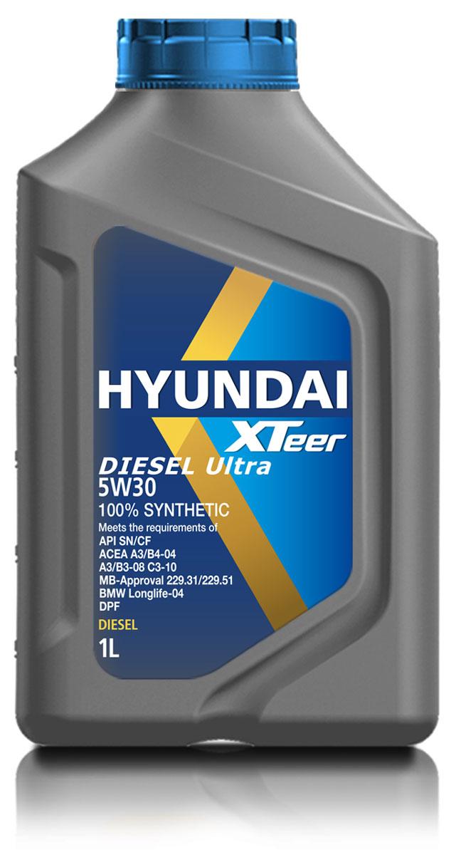 Масло моторное Hyundai Xteer Diesel Ultra, синтетическое, 5W-30, 1 л1011003100% синтетическое моторное масло премиум-класса для дизельных двигателей кемперов и внедорожников XTeer Diesel Ultra передовое интетическое моторное масло для дизельных двигателей, предназначенное как для защиты деталей современного двигателя, так и для защиты окружающей среды. XTeer Diesel Ultra соответствует требованиям современной градации новейших моторных маселAPI CF/SN, ACEA C3, A3/B3/B4. XTeer Diesel Ultra является 100% синтетическим маслом для дизельных двигателей, разработанное с применением передовых технологий.