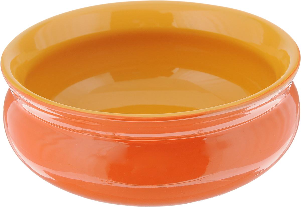 """Глубокая тарелка Борисовская керамика """"Скифская"""" выполнена  из керамики, произведенной из экологически чистой красной  глины с покрытием пищевой глазурью. Изделие можно  использовать для подачи супов, каш, мюсли, хлопьев с  молоком. Такая тарелка также подойдет в качестве салатника,  емкости для соуса и многого другого.   Посуда """"Борисовская керамика"""" подчеркнет прекрасный вкус  хозяйки и станет отличным подарком.  Можно использовать в духовке и микроволновой печи. Диаметр тарелки (по верхнему краю): 14 см.  Высота тарелки: 6 см."""