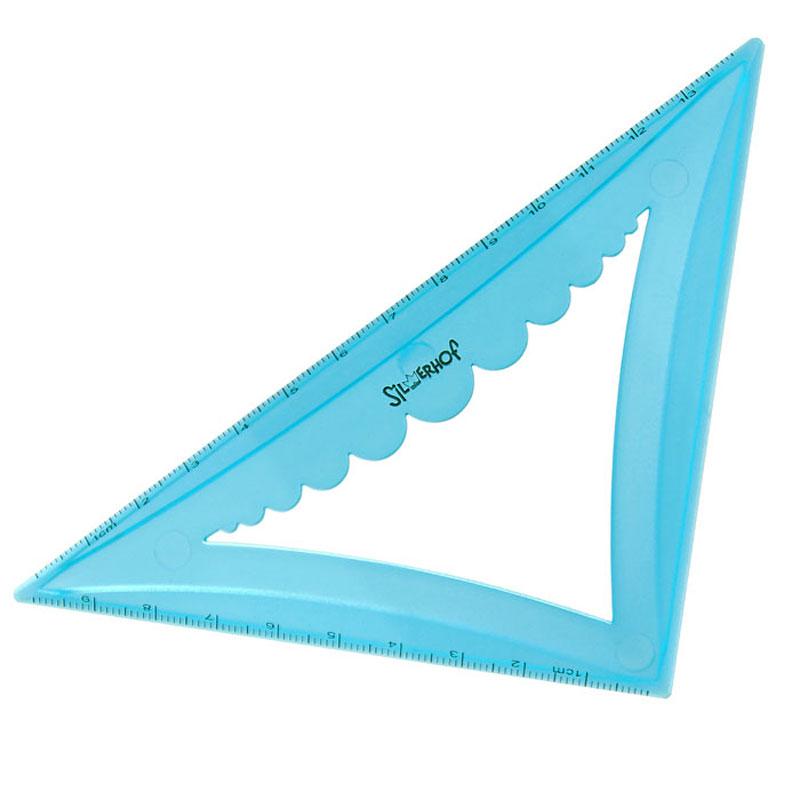 Silwerhof Угольник Colorful 45 градусов 14 см540092Объемный угольник Silwerhof со скошенными кромками станет вашим незаменимым помощником. Удобная форма помогает без труда понять чертежный предмет со стола. Выполнен из прозрачного цветного пластика с ровной четкой миллиметровой шкалой делений по двум сторонам до 14 см и 10 см.