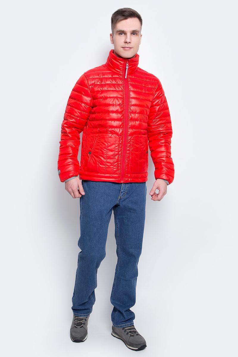 Куртка мужская Icepeak, цвет: красный. 756055877XV_645. Размер M (50)756055877XV_645Мужская куртка с подкладкой Icepeak выполнена из качественного полиэстера. Модель с длинными рукавами застегивается на застежку-молнию. Изделие дополнено двумя накладными карманами на кнопках.