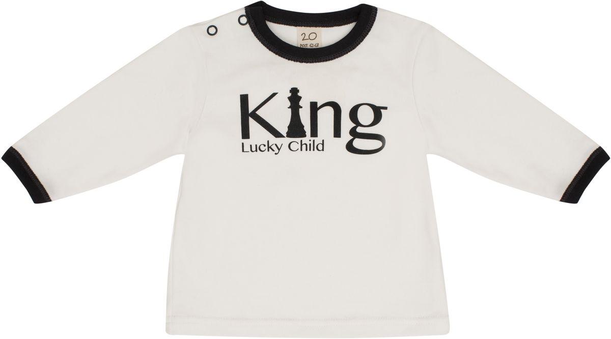 Распашонка для мальчика Lucky Child, цвет: молочный, темно-серый. 29-12М. Размер 86/92 распашонка quelle lucky child 1021535