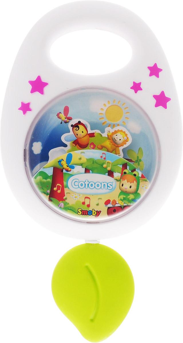 Smoby Музыкальная игрушка-подвеска Cotoons цвет белый розовый smoby стульчик сидение для ванной cotoons цвет розовый