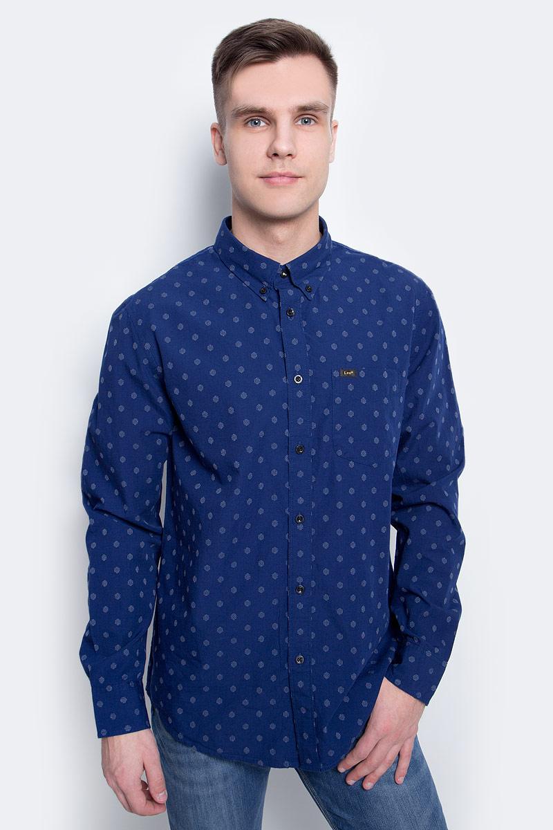 Рубашка мужская Lee, цвет: синий. L880IFPS. Размер XXL (54)L880IFPS