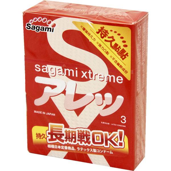 Sagami Xtreme Feel Long 3шт. Презервативы ультрапрочные, латекс 0,09 мм143149Sagami Xtreme Feel Long - Усиленная толщина стенок (0,09 мм) этих латексных презервативов позволяет увеличить продолжительность полового акта без добавления в смазку анестетиков , а точечная текстура и облегающая форма усилить наслаждение второго партнера.