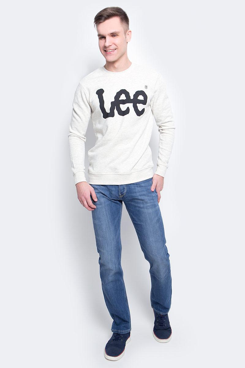 Джемпер мужской Lee, цвет: серый. L80AOT48. Размер L (50)L80AOT48