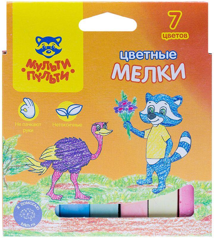 Мульти-Пульти Мелки цветные Енот в Австралии 7 цветов карандаши восковые мелки пастель мульти пульти карандаши цветные трехгранные енот в испании 18 цветов