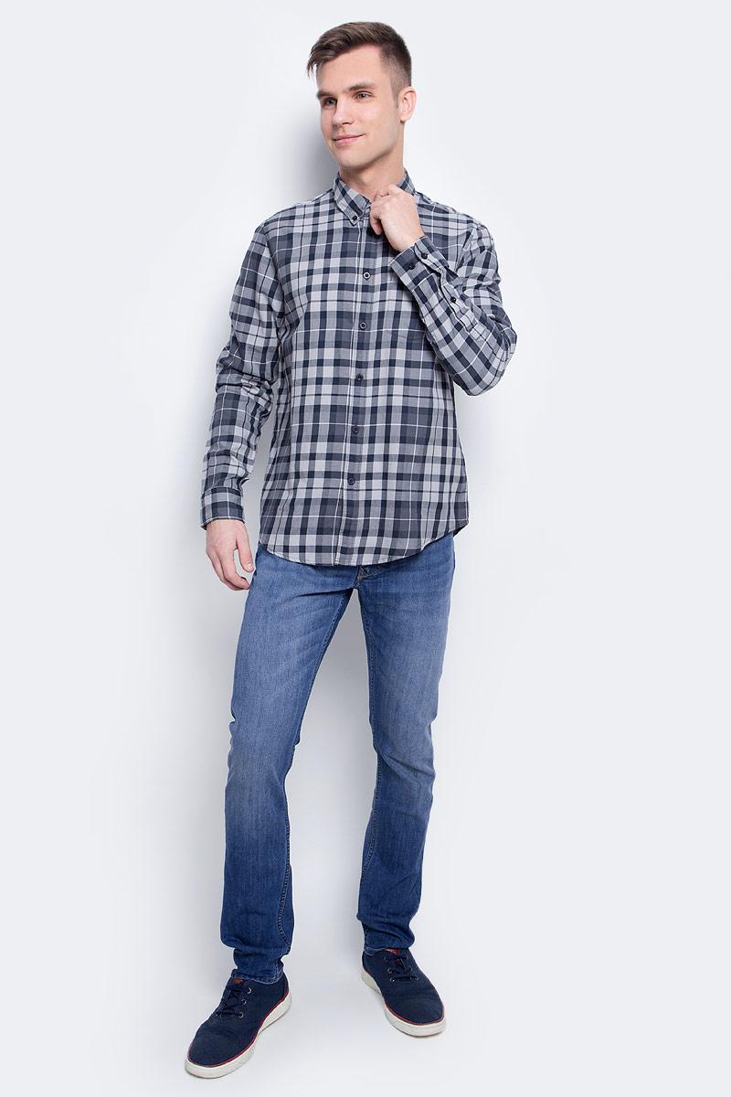 Рубашка мужская Lee, цвет: серый. L880JP01. Размер XL (52)L880JP01