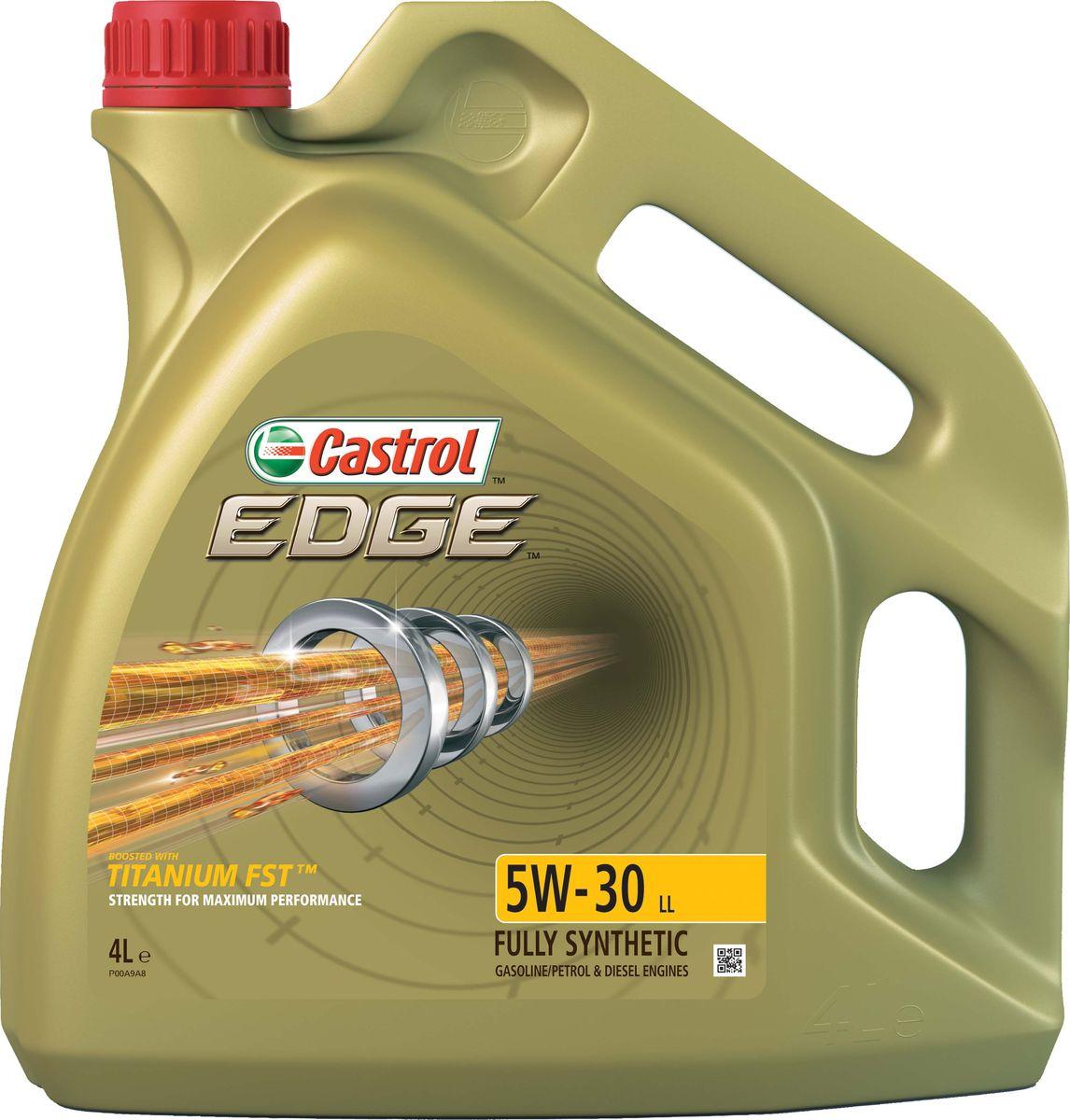 Масло моторное Castrol Edge, синтетическое, класс вязкости 5W-30, LL, 4 л моторное масло castrol edge 5w30 ll 4 л синтетическое