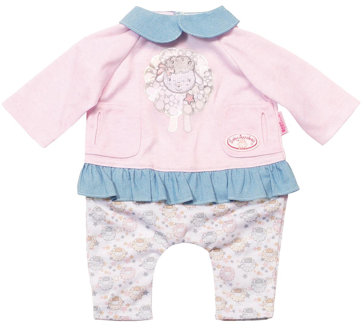 Baby Annabell Одежда для куклы Спокойной ночи basiс baby штанишки с боковыми кармашками little gentleman
