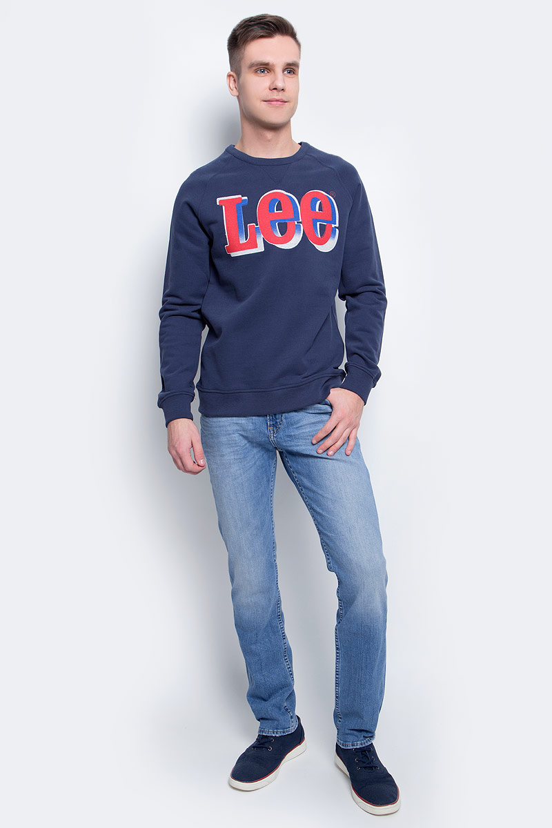 Джемпер мужской Lee, цвет: синий. L82CDE35. Размер XL (52) huahejing синий цвет номер xl