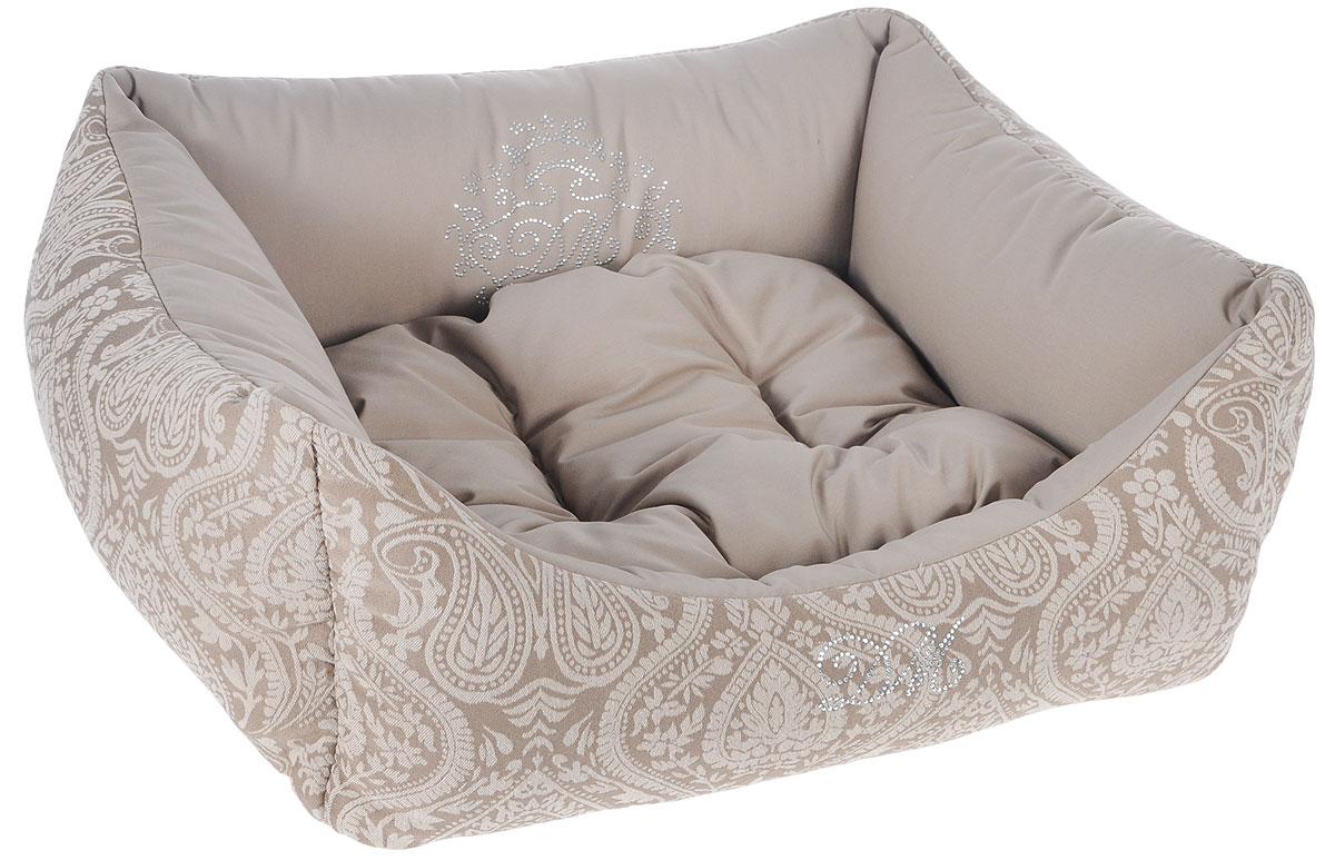 Лежак для животных Dogmoda Элегант, 59 x 53 x 21 см лежак дарэлл хантер лось 1 с подушкой 45 33 14см