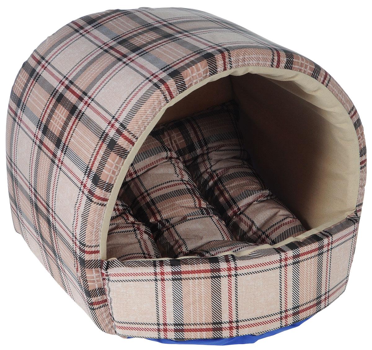 Домик для собак Happy Puppy Классик, 37 x 37 x 40 смЛ4/4 Лежак Пуфик _ арабеска голубая, материал бязь, холофайберДомик для собак Happy Puppy Классик обязательно понравится вашему питомцу. Он выполнен из высококачественного хлопка и полиэстера с водоотталкивающей пропиткой. Съемная подстилка с наполнителем из холлофайбера. Такойматериал не теряет своей формы долгое время.Домик очень удобный и уютный. Ваш любимец сразу же захочет забраться внутрь, там онсможет отдохнуть и спрятаться. Компактные размеры позволят поместить домик, где угодно, а приятная цветовая гамма сделает его оригинальным дополнением к любому интерьеру. Размер подстилки: 37 х 37 х 5 см,Размер домика: 37 х 37 х 40 см,Внутренняя высота домика (с учетом подстилки): 27 см.Толщина стенки: 3 см.