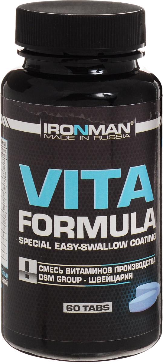 Ironman Вита формула, 60 таб4607062750315Вита формула - это высокоэффективный комплекс витаминов и минералов, включающий в себя полный набор витаминов и минералов, необходимых организму, плюс ферменты, способствующие лучшему усвоению питательных веществ. Вита формула - это исключительно натуральная формула, содержащая хелатированные минералы. Не содержит каких-либо искусственных красителей и добавок. Витамин В1 (тиамин) 11,9 мг, витамин В2 (рибофлавин) 1,8 мг, витамин В6 (пиридоксин) 2,5 мг, витамин В12 (цианокобаламин) 1,1 мкг, железо 0,8 мг, цинк 2,4 мг, витамин В5 (пантотеновая кислота) 9,9 мг, витамин B9 (фолиевая кислота) 0, 38мг, магний 23,3 мг, витамин B3 (ниацин) 16,6мг, калий 5,1 мг, магний 23,3 мг, хром 1,24мкг, кальций 94,9мг,витамин Е 14 мг, Витамин С 56,3 мгУважаемые клиенты! Обращаем ваше внимание на возможные изменения в дизайне упаковки. Качественные характеристики товара остаются неизменными. Поставка осуществляется в зависимости от наличия на складе.Как повысить эффективность тренировок с помощью спортивного питания? Статья OZON Гид