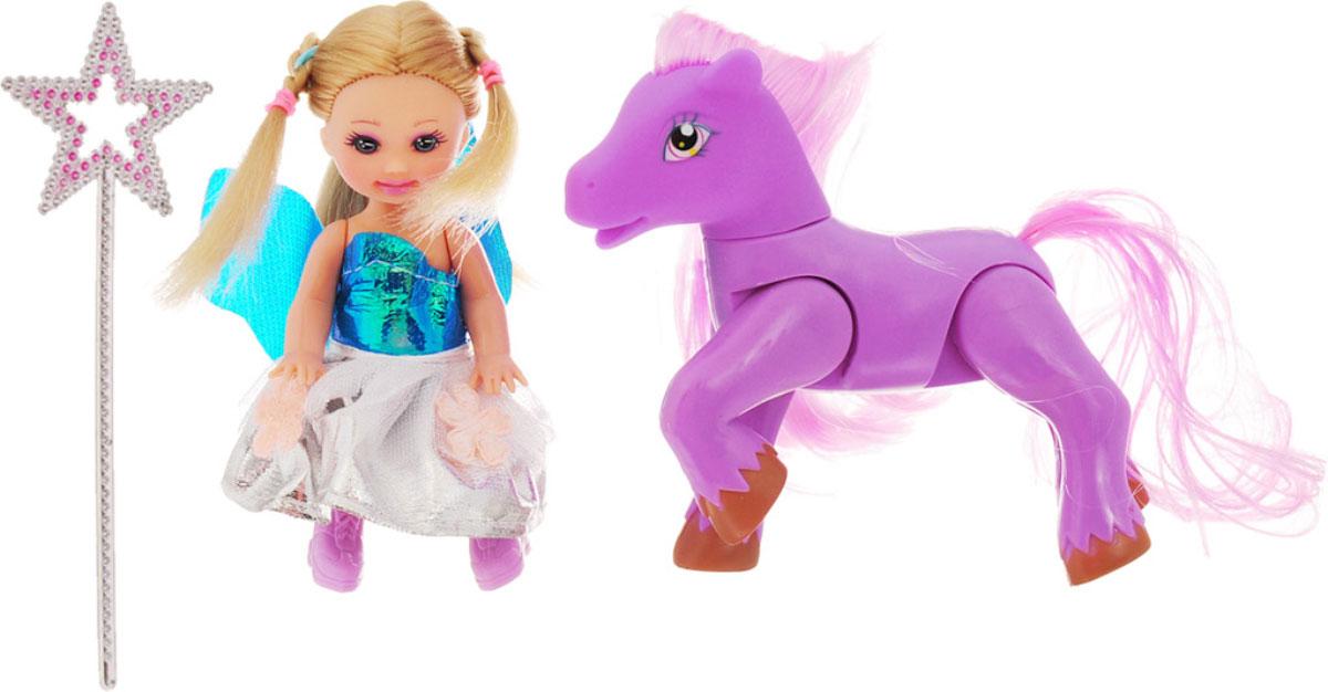 Defa Игровой набор с мини-куклой Малышка и пони цвет пони сиреневый