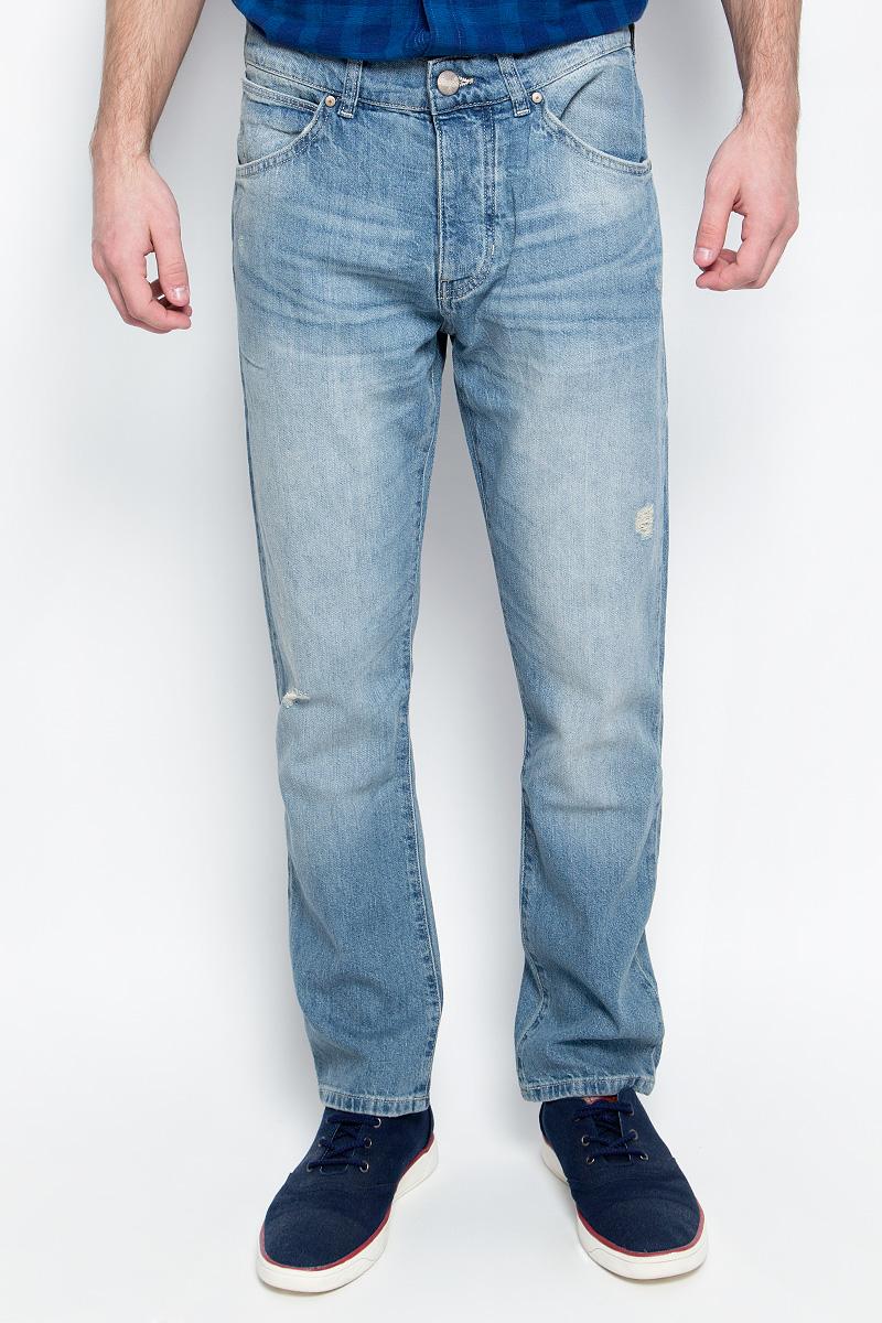 Купить Джинсы мужские Wrangler, цвет: голубой. W16EAV93Q. Размер 29-32 (44/46-32)