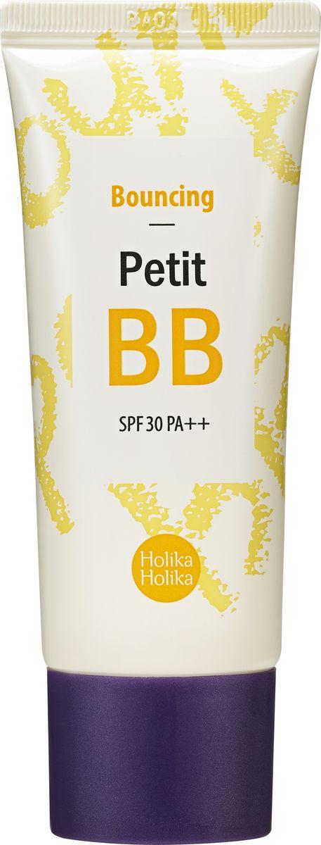 """Holika Holika ББ крем для лица Петит ББ Баунсинг, 30 мл20013811Тональное средство ББ-крем Петит ББ - упругость содержит экстракт черной икры и коллаген. Увлажняет даже глубокие слои кожи, вносит существенный вклад в регенерацию клеток, замедляя тем самым процесс старения. Применение: на первом этапе макияжа, после нанесения базы или праймера на лицо, равномерно распределите по лицу похлопывающими движениями кончиками пальцев. Объём: 30 мл. Срок годности: см. на упаковке. Состав: вода, этилгексил метоксициннамат, циклопентасилоксан, диоксид титана, метикон, бутиленгликоль, пентаэритритил, тетраэтилгексаноат, неопентилгликоль дикапрат, диметикон, глицерин, циклометикон, дистеаридимониум гекторит, бутиленгликоль/дикапрат, ниацинамид, гидрогенизированное касторовое масло изостеарат, цетиловый ПЭГ/ППГ-10/1 диметикон, сорбитана оливат, оксиды железа (CI77492)/слюда/метикон, полиметилметакрилат, диметикон/винил диметикон сетчатый, ПЭГ-10 диметикон, хлорид натрия, трибегениновый, сорбитансесквиолеат, триэтилцитрат, глицерилбегенат, полиглицерил-6 октастеарат, оксиды железа (CI77491)/слюда/метикон, оксиды железа (CI77499)/слюда/метикон, фонокиэтанол, метилпарабен, пропилпарабен, ароматизатор, аденозин, коллаген, ксантановая камедь, полидецен, экстракт икры. Изготовитель: Enprani CO. Ltd., Республика Корея, 6F, Doowon Bldg.503-5, Sinsa-dong, Gangnam-gu, Seoul, 135-887. Импортер: ООО АЛЬЯНС ИМПОРТ. Дистрибьютор/Претензии принимаются: ООО ВОСТОЧНАЯ КРАСОТА"""", 119330, г. Москва, ул. Мосфильмовская, д.35, +7(499)322-10-30 sales@holikaholika.ru www.holikaholika.ru"""