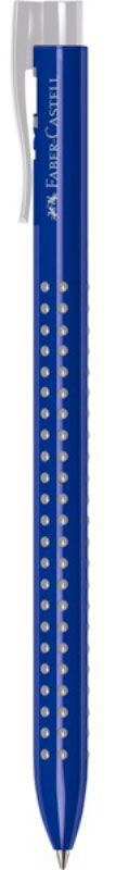 Faber-Castell Ручка шариковая Grip 2022 цвет корпуса синий544651Шариковая ручка Faber-Castell Grip 2022 имеет запатентованную антискользящую зону захвата с малыми массажными шашечками.Эргономичная трехгранная форма, качественный нажимной механизм и упругий клип обеспечивают комфорт при использовании ручки.Пригодна для письма на документах.