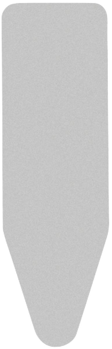 Чехол для гладильной доски Brabantia Faster Ironing, цвет: металлизированный, 2 мм, 135 х 49 см. 317309317309Идеальная поверхность для глажения и отпаривания. Плавное скольжение утюга – верхний чехол из 100% хлопка. Удобное глажение – подкладка из 2 мм поролона для упругости. Удобная фиксация на доске и отличное натяжение чехла – затягивающий шнур и стяжки. Цветовая маркировка позволяет быстро и точно подобрать нужный чехол.
