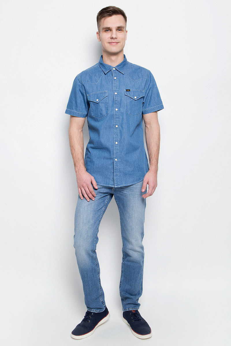 Джинсы мужские Lee, цвет: голубой. L701APDF. Размер 32-34 (48-34)L701APDF