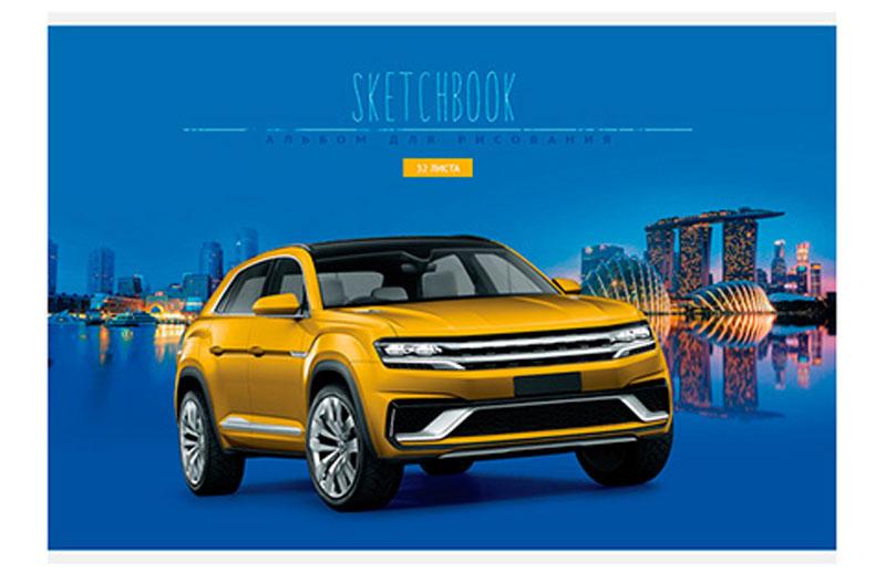 ArtSpace Альбом для рисования Авто Sketchbook 32 листа цвет желтый авто с пробегом в твери уаз