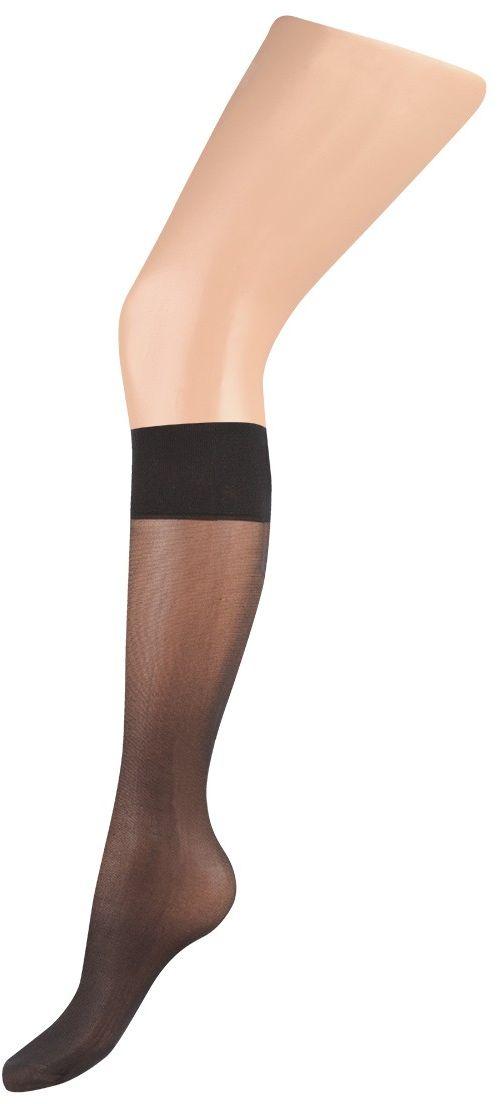 Гольфы женские Charmante, цвет: черный. FLAVOR gamb. 40. Размер универсальныйFLAVOR gamb. 40Тонкие шелковистые гольфы с укреплённым носочком и комфортной резинкой. 2 пары в упаковке.