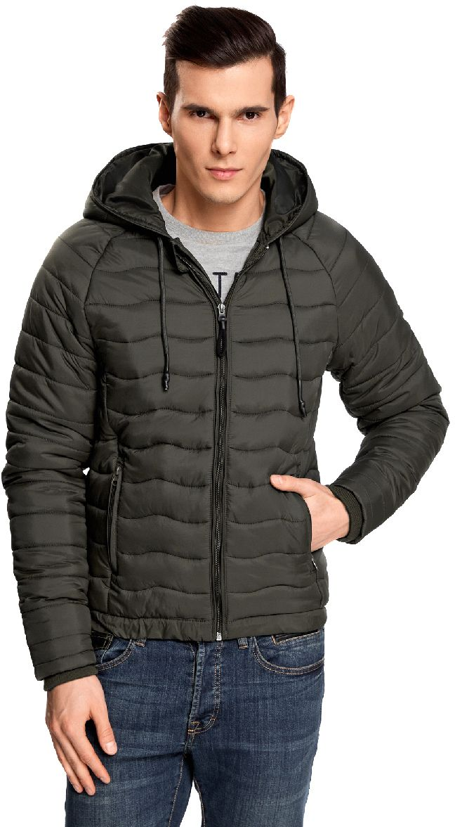 Куртка мужская oodji Lab, цвет: хаки. 1L112024M/25278N/6600N. Размер XL-182 (56-182)1L112024M/25278N/6600NМужская стеганая куртка oodji Lab выполнена из высококачественного материала. В качестве подкладки и утеплителя используется полиэстер. Модель с несъемным капюшоном застегивается на застежку-молнию. Капюшон дополнен по краю шнурком-кулиской. Рукава имеют внутренние эластичные манжеты. Спереди расположено два прорезных кармана на застежках-молниях.