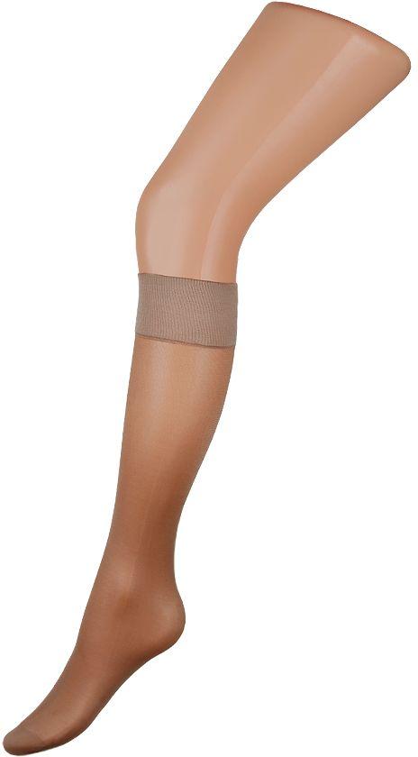 Гольфы женские Charmante, цвет: бежевый. SENSO gamb. 20. Размер универсальныйSENSO gamb. 20Тонкие шелковистые гольфы с укреплённым носочком и комфортной широкой резинкой. 2 пары в упаковке.