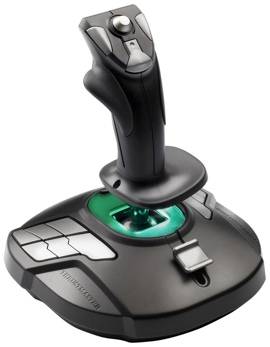Thrustmaster T-16000M джойстик + код Elite Dangerous Arena (2960781)THR47Thrustmaster T-16000M одинаково удобен для правой и левой руки. 3 сменных компонента позволяют идеально приспособить джойстик как для правой, так и для левой руки.Управление двумя джойстикам (по одному в каждой руке) теперь возможно во всех играх, которые разрешают использование двух джойстиков одновременно.Устройство Plug & Play обеспечивает простую и быструю установку и позволяет заранее настроить все функции для немедленного и простого взлета!Технология уникальной точности, предложенная H.E.A.R.T., основана на гальваномагнитном эффектеТрехмерные магнитные сенсоры, расположенные на ручке, создают гальваномагнитный эффектПрецизионные уровни в 256 раз точнее обычных систем (например, разрешение достигает значений 16000 x 16000)Магниты предотвращают трение при движении, обеспечивая неограниченную точность и ритмичностьСпиральная пружина (диаметром 2,8 мм), расположенная внутри рукоятки джойстика, обеспечивает устойчивость и равномерно распределяет напряжение16 управляющих кнопок, 12 из них находятся на панели, 4 - на ручке4 независимых осиРуль направления регулируется поворотом рукояткиПереключатель дает пользователям возможность настроить 12 кнопок, расположенных на панели для удобного использования как правой, так и левой рукой. Пусковое устройство для тормоза (для гражданских полетов) или для управления скоростной стрельбой (для военных полетов). Многонаправленный миниджойстик (для панорамного обзора)Эргономичный дизайн для оптимального комфортаШирокая подставка для руки, предназначенная снизить напряжениеУтяжеленная основа для улучшения стабильностиОптимизированные предустановкиT.16000M - IL-2 Sturmovik: Battle of Stalingrad (PC)T.16000M - Elite: Dangerous (PC)T.16000M - MechWarrior Online (PC)T.16000M - Star Citizen (PC)Все оптимизированные предустановки T.A.R.G.E.T для T.16000M