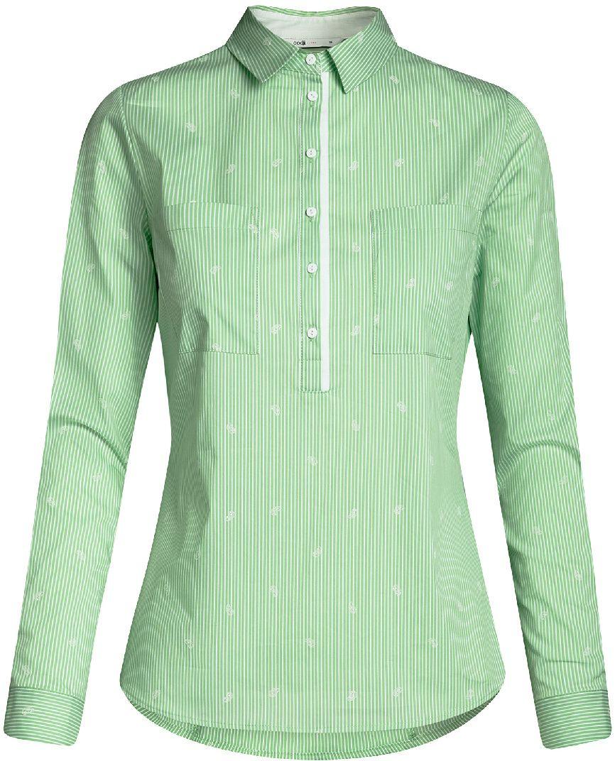 Рубашка женская oodji Ultra, цвет: ментоловый, белый,. 11403222-4/46440/6510S. Размер 44-170 (50-170) женская рубашка european and american big c002617 2015