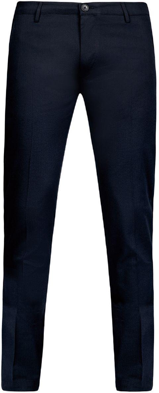 Брюки мужские oodji Lab, цвет: темно-синий. 2L200164M/46265N/7900J. Размер 48-182 (56-182) брюки j l scherrer брюки