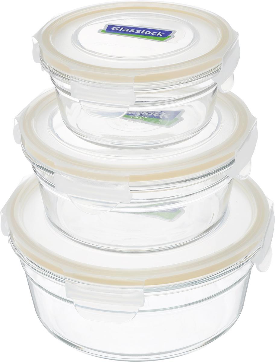 Набор контейнеров Glasslock, с крышками,3 штGL-531_прозрачный/желтыйНабор контейнеров Glasslock изготовлен из высококачественного закаленного ударопрочного стекла. Герметичная крышка, выполненная из антибактериального пластика и снабженная уплотнительной резинкой, надежно закрывается с помощью четырех защелок. Подходит для мытья в посудомоечной машине, хранения в холодильных и морозильных камерах, использования в микроволновой печи. Выдерживает резкий перепад температур. Стеклянная посуда нового поколения от Glasslock экологична, не содержит токсичных и ядовитых материалов; превосходная герметичность позволяет сохранять свежесть продуктов; покрытие не впитывает запах продуктов; имеет утонченный европейский дизайн - прекрасное украшение стола.Диаметр контейнеров (по верхнему краю): 18,5 см; 15,5 см; 13 см. Объем контейнеров: 1,48 л; 850 мл; 450 мл.