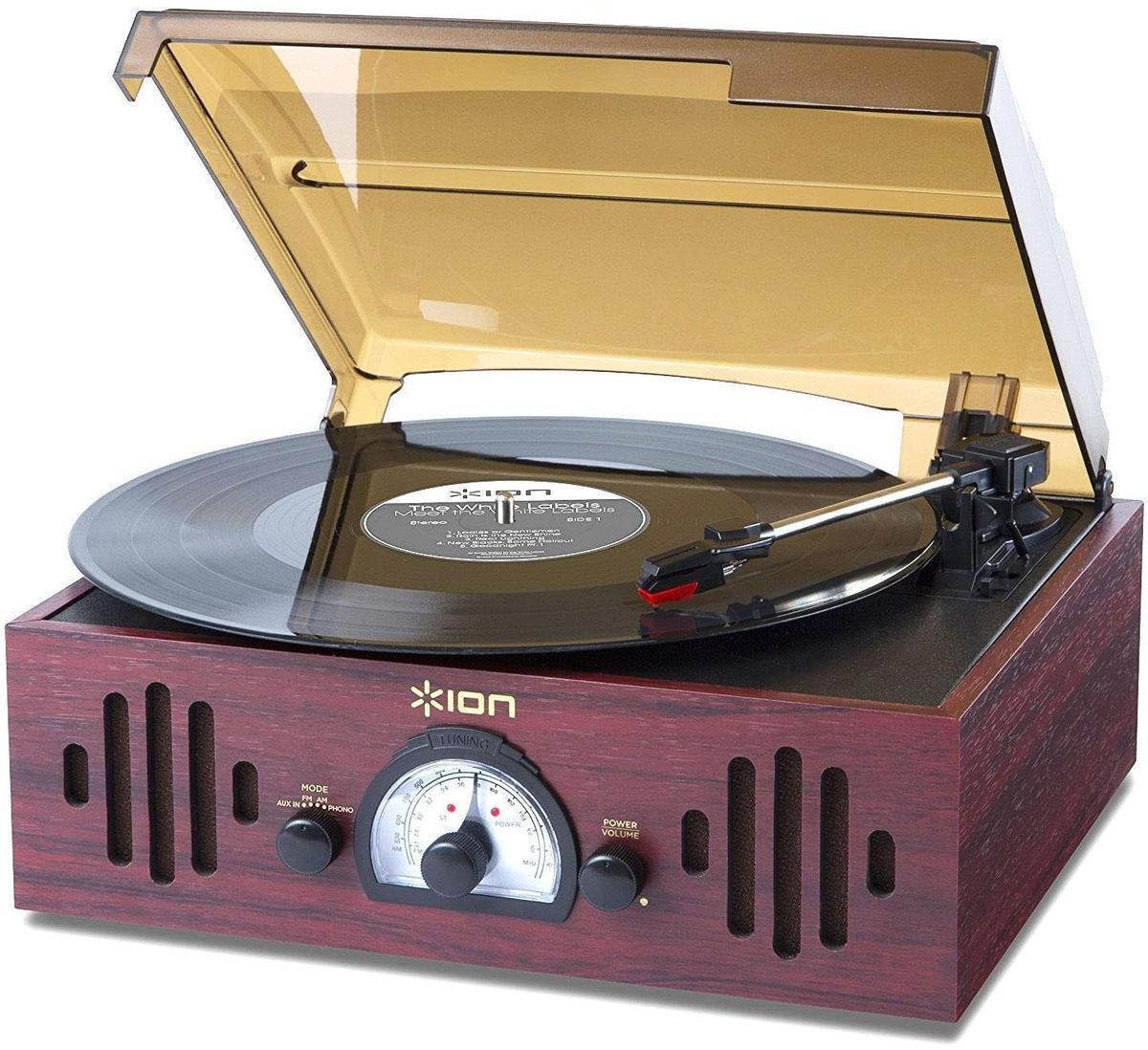 ION Audio Trio LP, Bordeaux проигрыватель виниловых дисков ion audio pure lp red виниловый проигрыватель