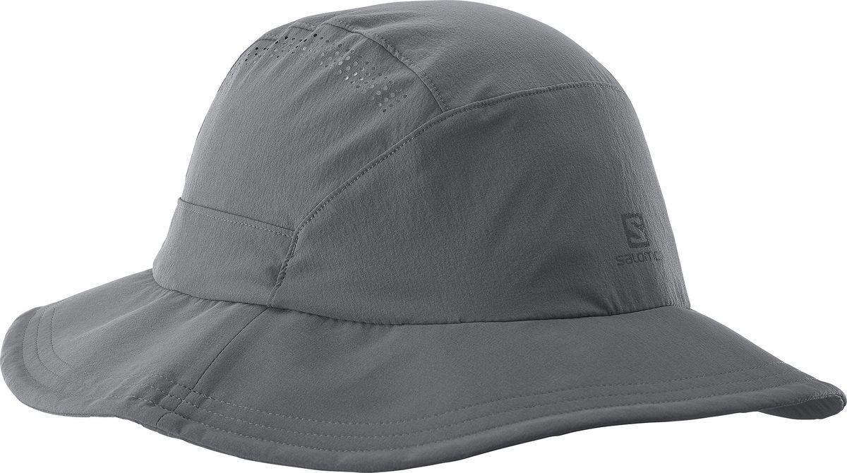 Панама Salomon Mountain Hat, цвет: серый. L39326000. Размер универсальныйL39326000Панама Salomon Mountain Hat, изготовленная из эластичного полиамида, защитит вас от дождя и солнца. Модель с широкими гибкими жесткими полями быстро и компактно складывается. Тулья дополнена шнурком-кулиской со стопперами. Панама имеет перфорацию сверху.