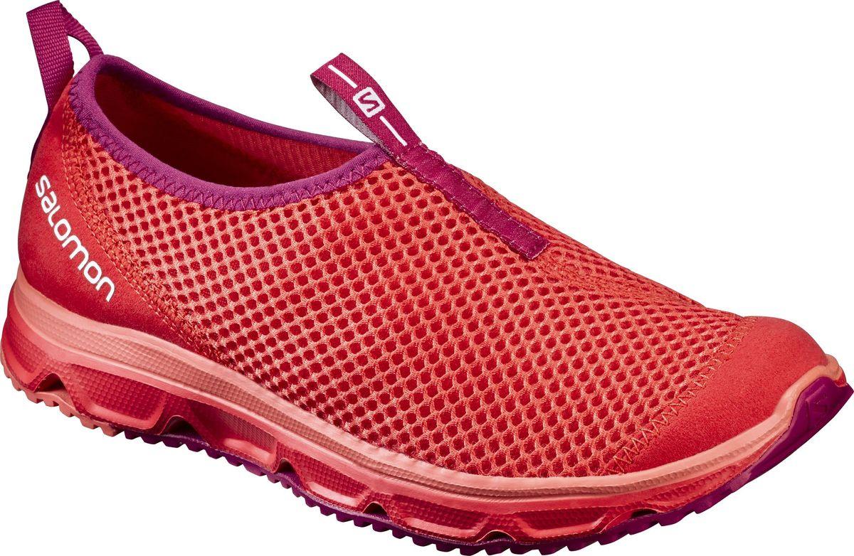 Кроссовки женские Salomon Rx Moc 3.0 W, цвет: коралловый. L39244500. Размер 7,5 (40)L39244500Женские кроссовки от Salomon незаменимая обувь в вашем гардеробе . Модель, выполненная из высококачественного материала, дарит комфорт и легкость во время ходьбы или бега. Верх изделия оформлен плетением. На заднике кроссовки декорированы логотипом бренда. Рифленая подошва обеспечит прочное сцепление с любой поверхностью. Такие кроссовки помогут ногам расслабиться после долгих и утомительных тренировок.