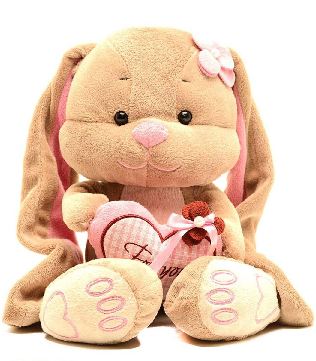 Jack & Lin Мягкая игрушка Зайка Лин с сердцем 35 см игрушка jack and lin зайка лин черничный пуддинг jl 021 25